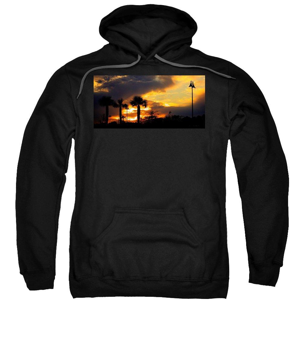 Fire Sweatshirt featuring the photograph Night Fury by Tyson Kinnison