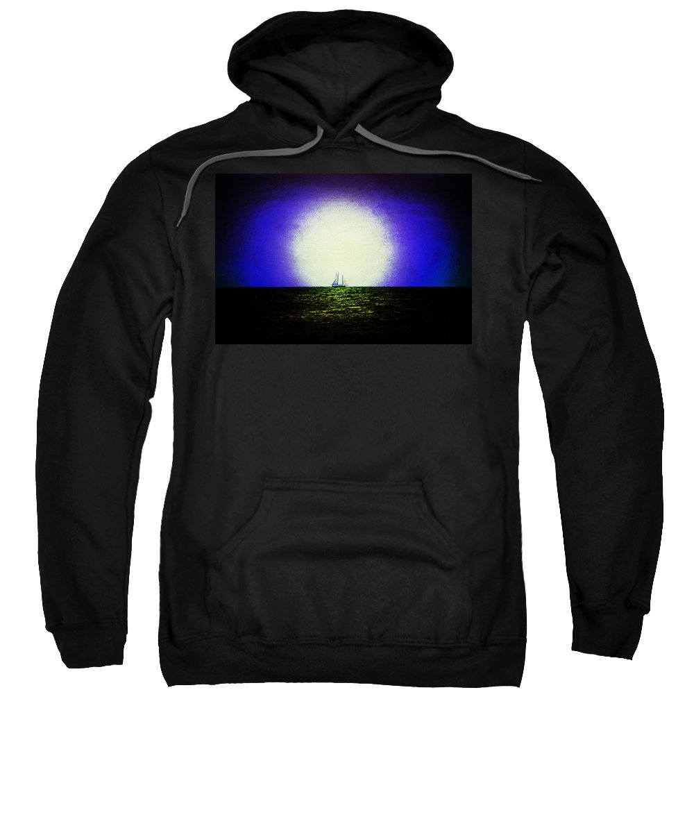 Venice Beach Sweatshirt featuring the photograph Night Sail by Laurie Perry