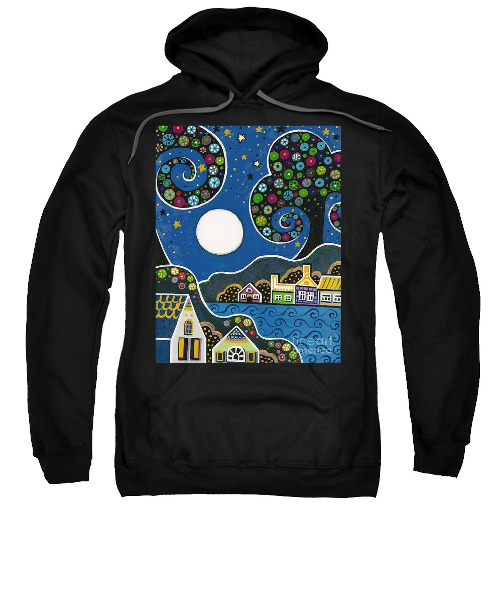 Abstract Sweatshirt featuring the painting Night Sky by Margaryta Yermolayeva
