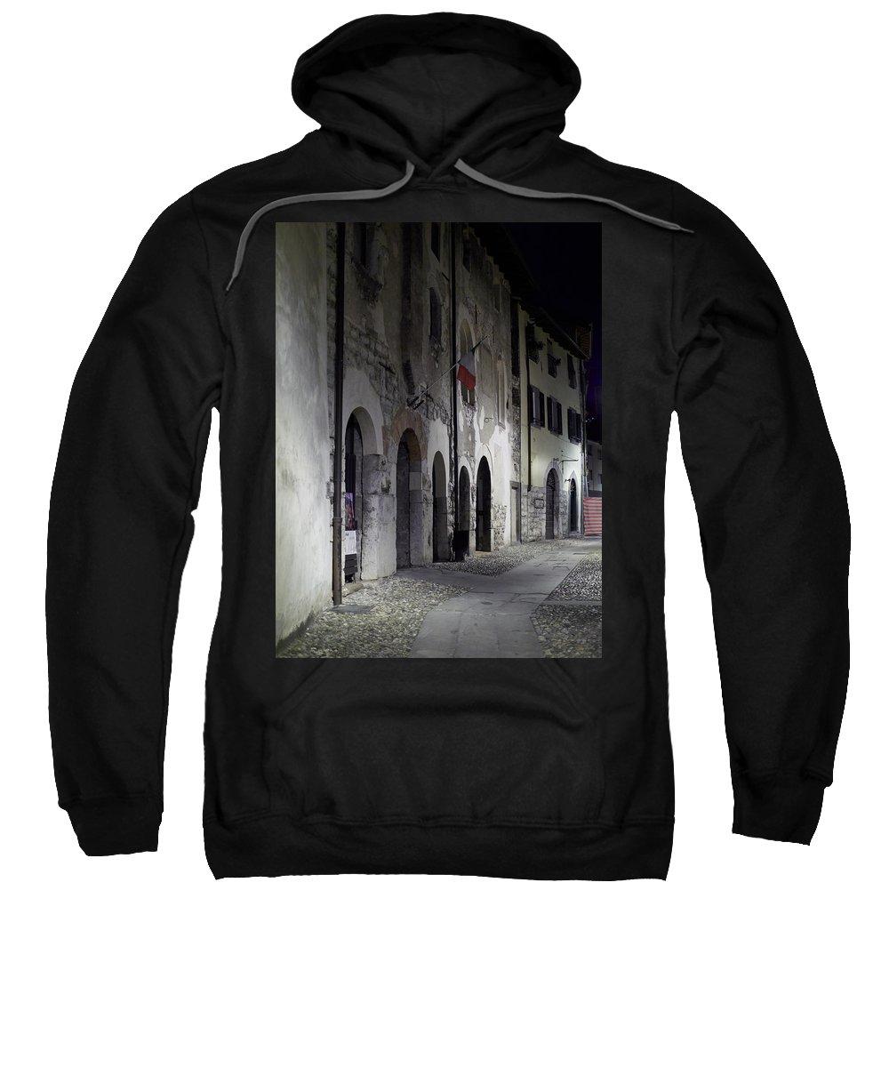 Francacorta Sweatshirt featuring the photograph Nightscape. Iseo by Jouko Lehto