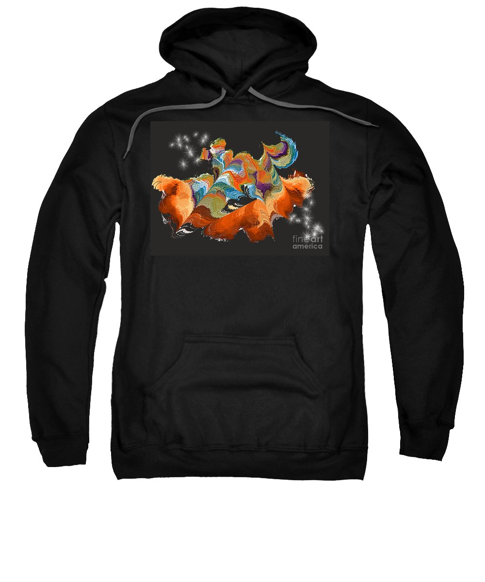 Sweatshirt featuring the digital art No. 1069 by John Grieder