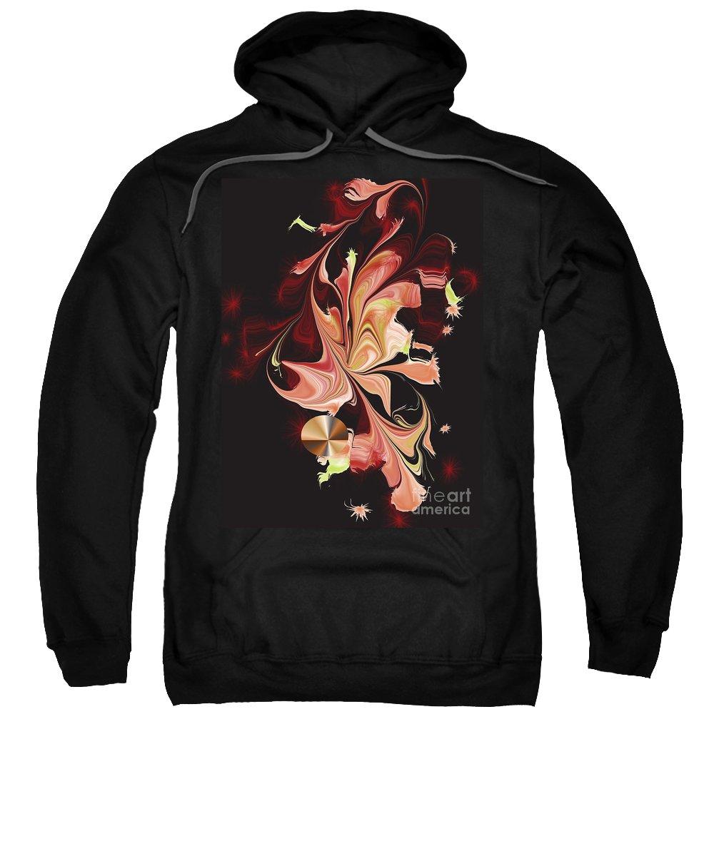 Sweatshirt featuring the digital art No. 549 by John Grieder