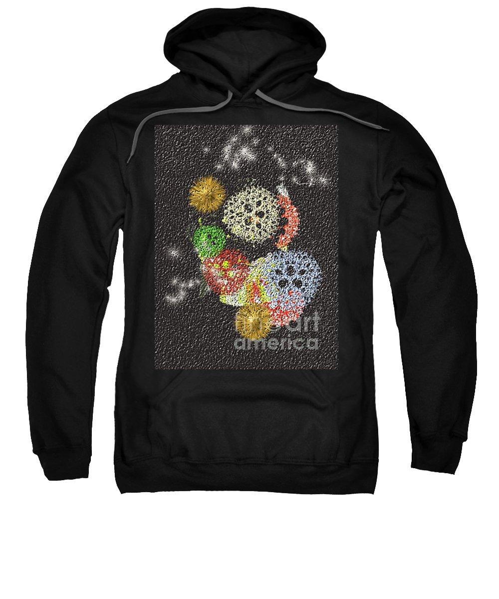 Sweatshirt featuring the digital art No. 784 by John Grieder