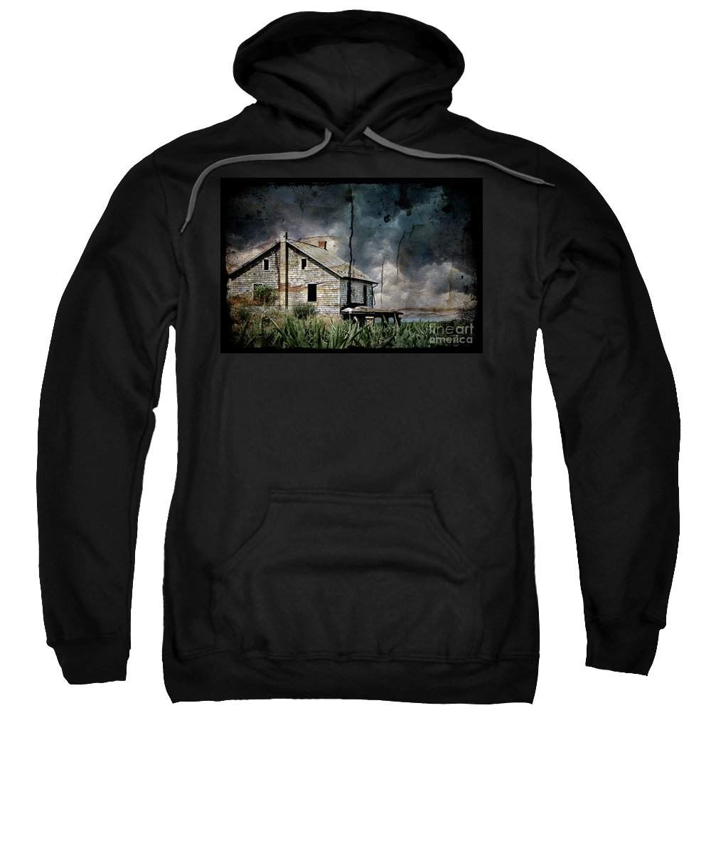 Farmhouse Sweatshirt featuring the photograph Nobody's Home by Lois Bryan