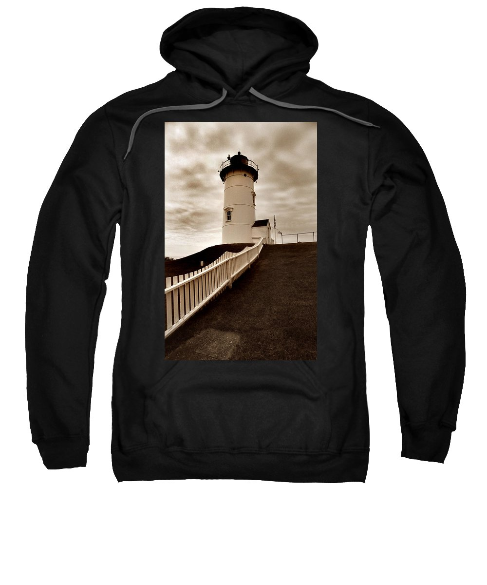 Cape Cod Sweatshirt featuring the photograph Nobska Lighthouse by Skip Willits
