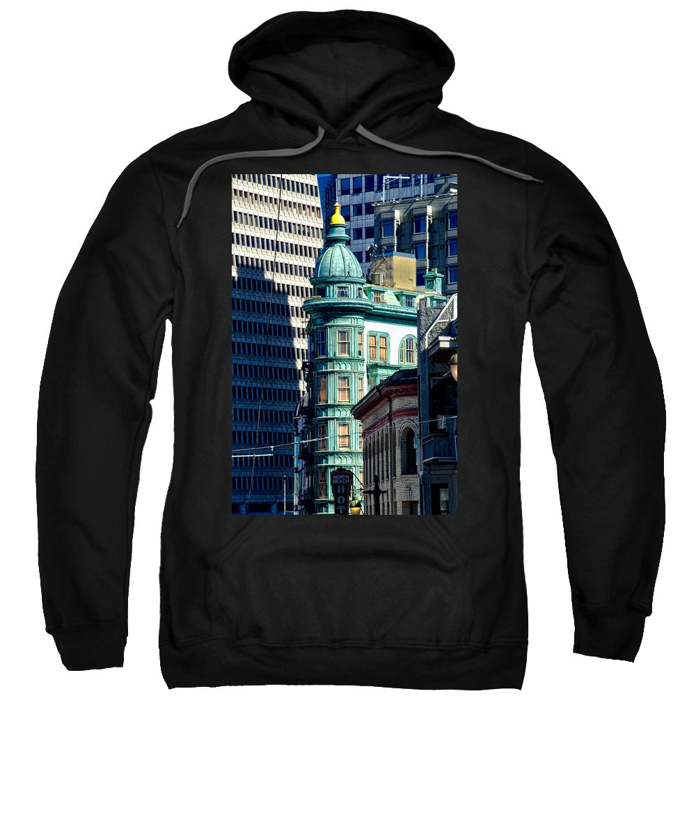 North Beach Sweatshirt featuring the photograph North Beach Victorian - San Francisco by Jon Berghoff