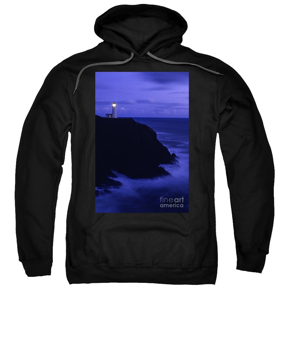 Landscape Sweatshirt featuring the photograph Northhead Ilwaco Lighthouse by Jim Corwin
