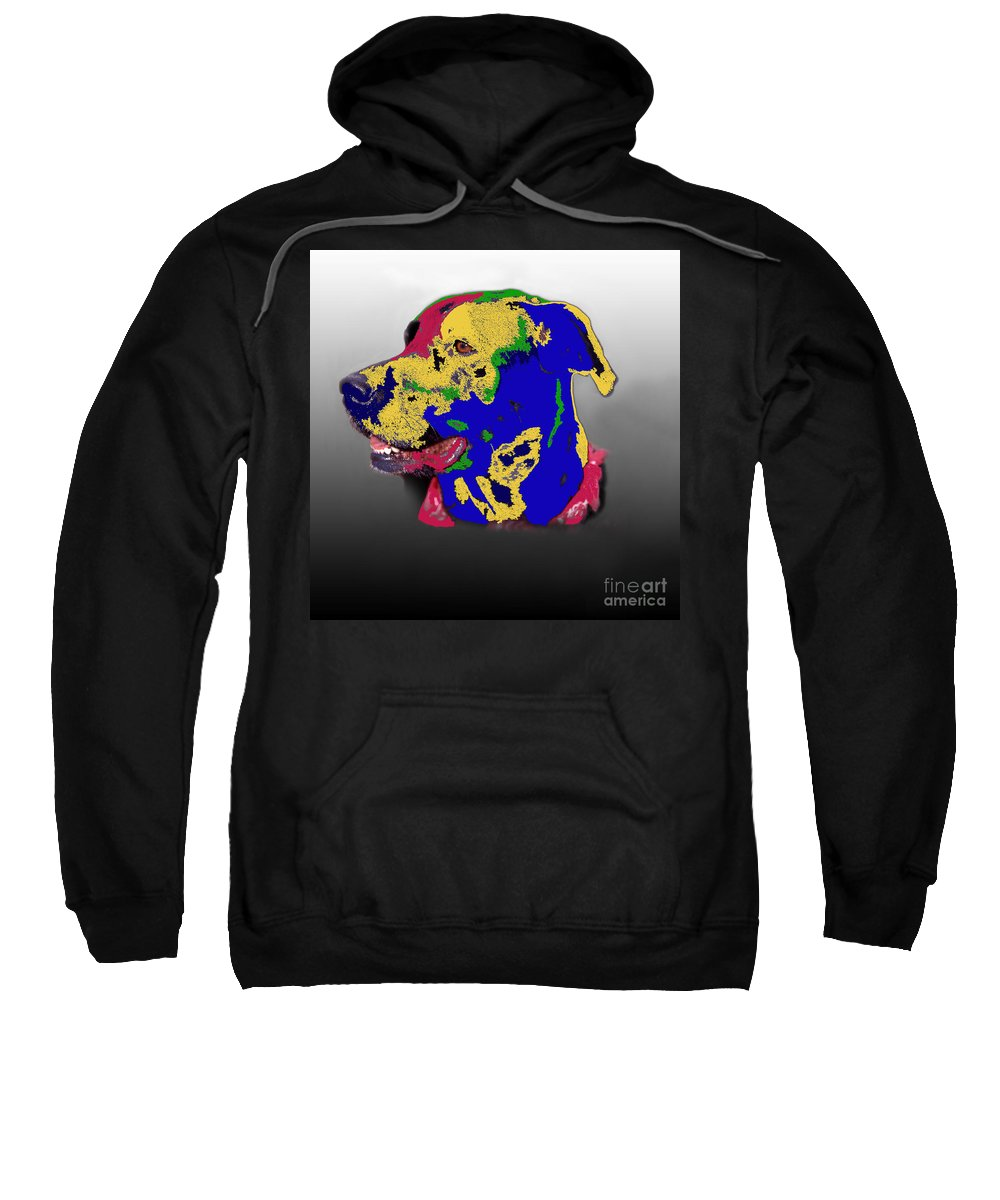 Intense Sweatshirt featuring the photograph Not A Black Lab by Skip Willits