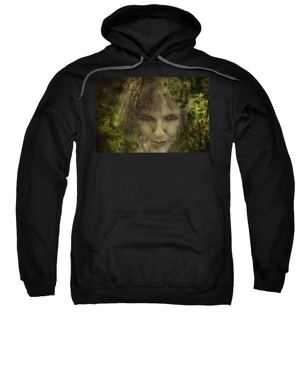 Woman Sweatshirt featuring the photograph Not Nice To Fool Mother Nature by Donna Blackhall