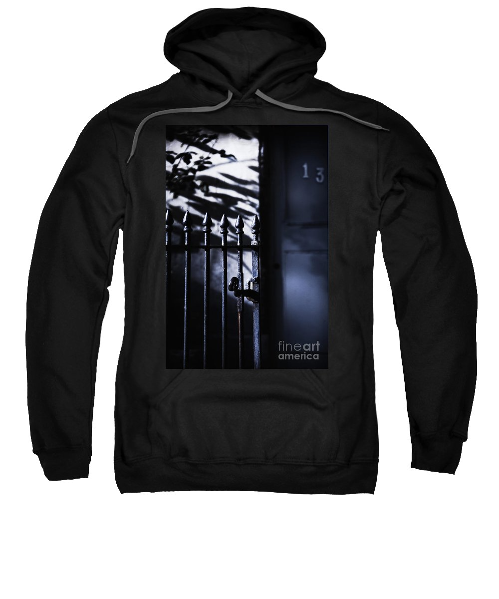 Fence Sweatshirt featuring the photograph Number 13 by Margie Hurwich