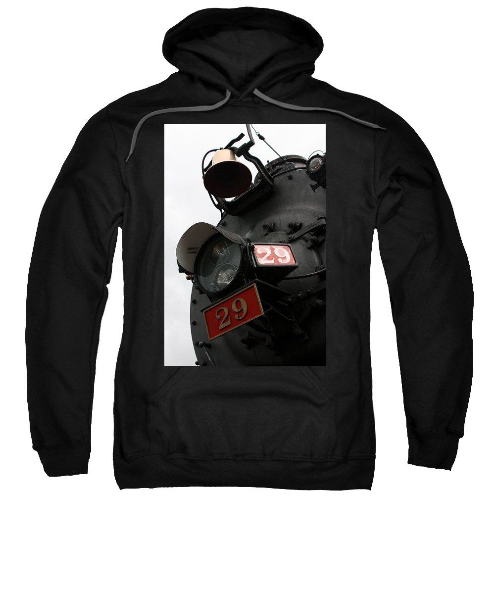 Steam Engine Sweatshirt featuring the photograph Number 29 by Joe Kozlowski