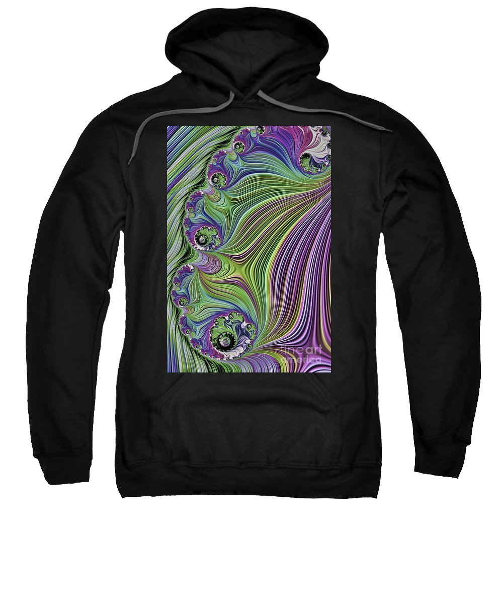 Fractal Sweatshirt featuring the photograph Ocean Waves by Steve Purnell