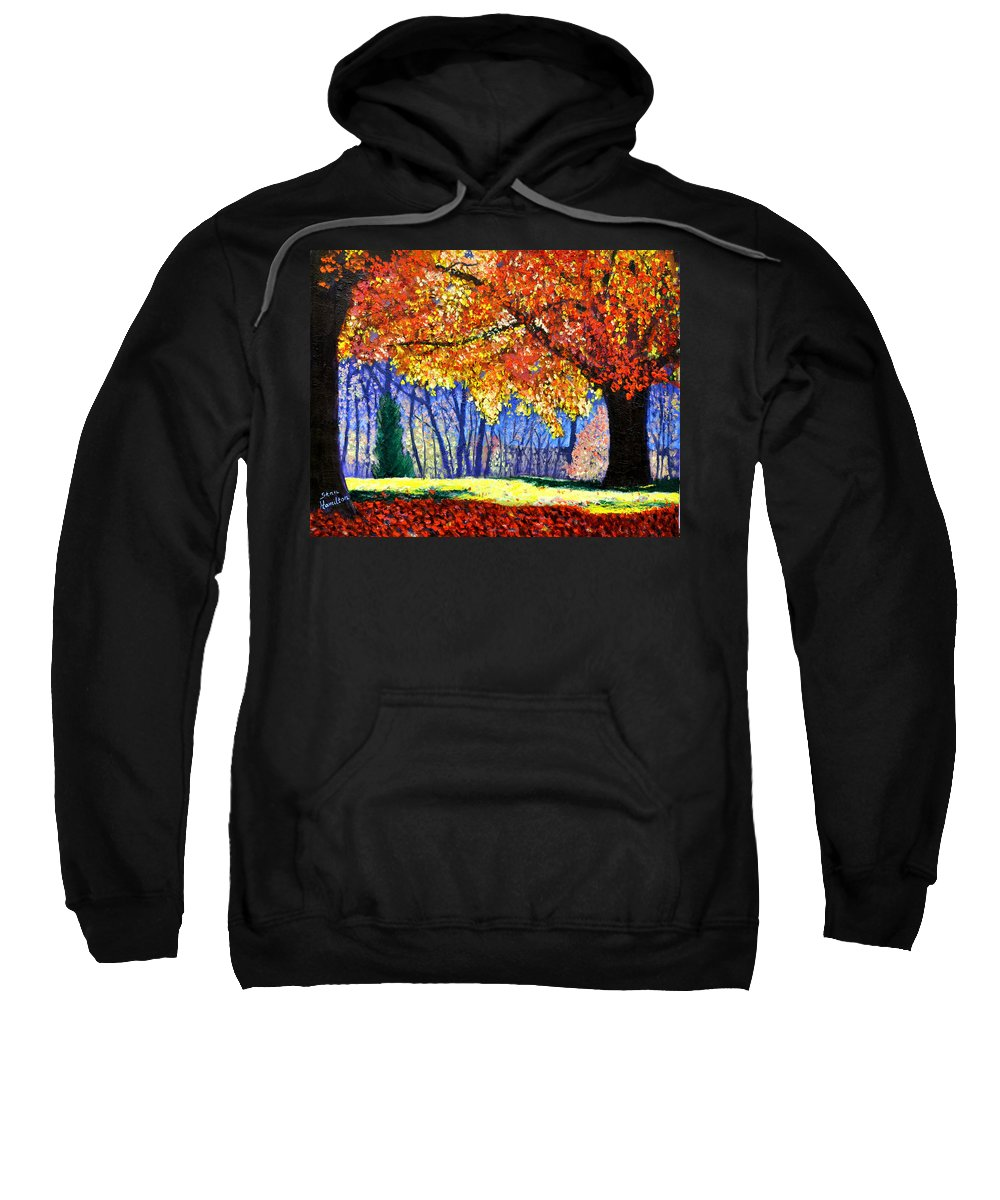 Fall Sweatshirt featuring the painting October Surprise by Stan Hamilton