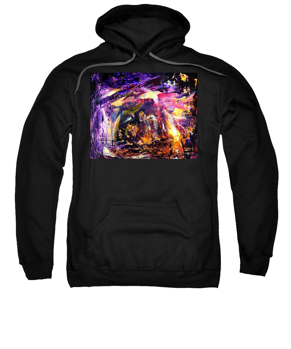 Abstract Sweatshirt featuring the painting Oh Holy Night by Julianne Felton