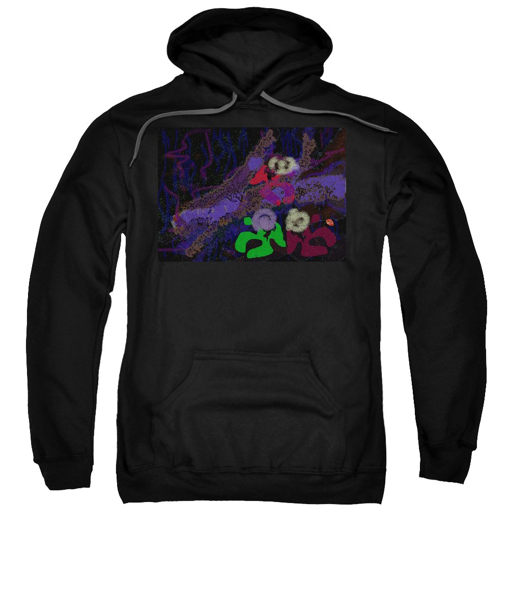 After Party Sweatshirt featuring the digital art Oh The Aftermath by Mathilde Vhargon