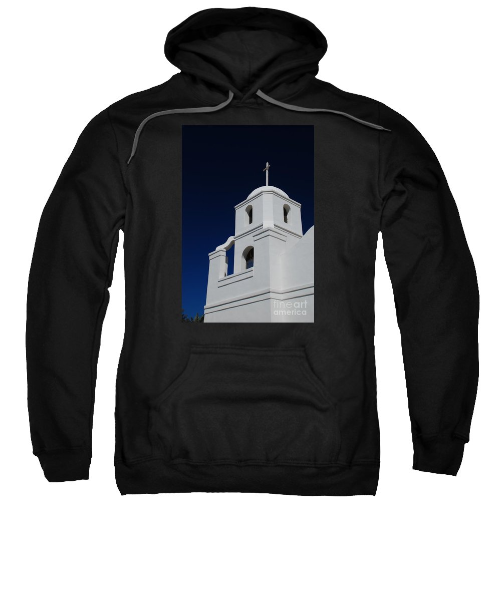Old Adobe Mission Scottsdale Arizona Church Sweatshirt featuring the photograph Old Adobe Mission Scottsdale by Richard Gibb