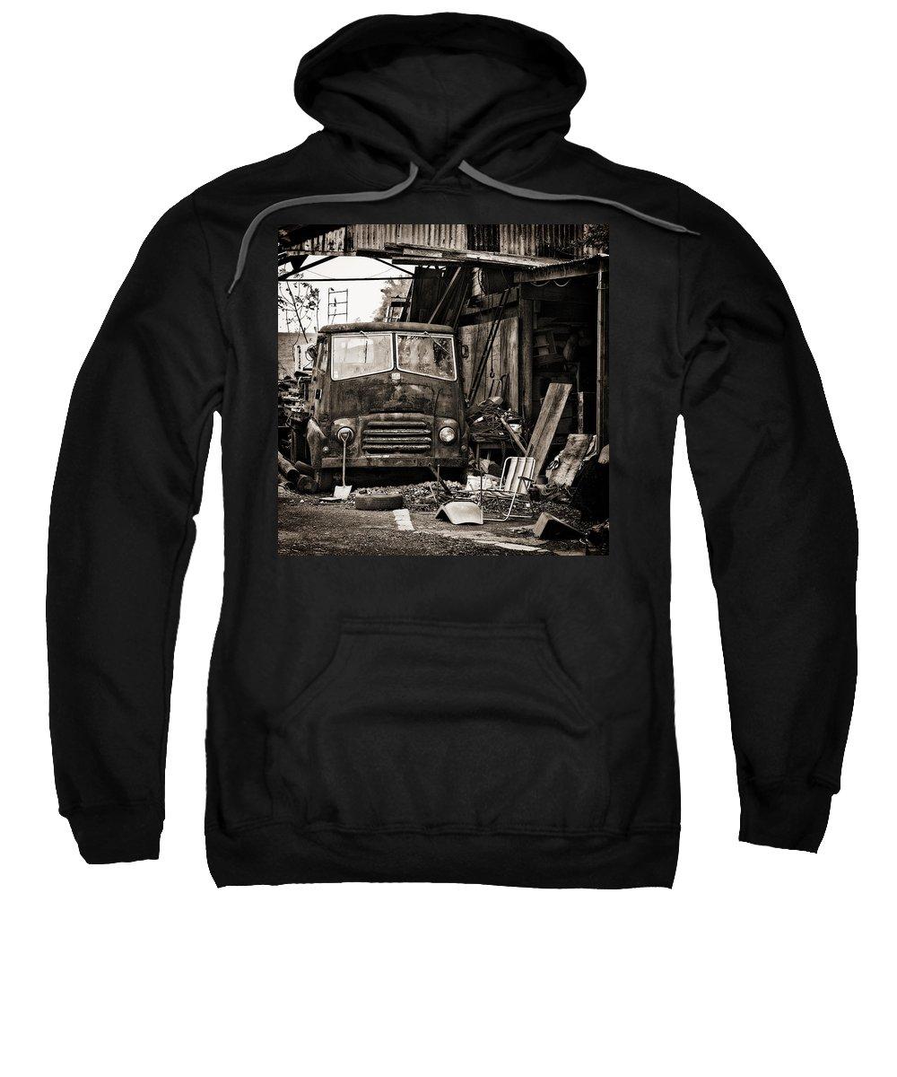 Bmc Sweatshirt featuring the photograph old BMC diesel by Meirion Matthias