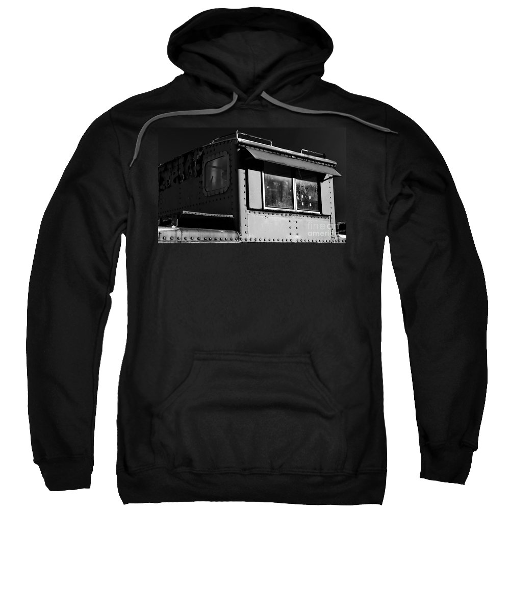 Digital Black And White Photo Sweatshirt featuring the digital art Old Copula Bw by Tim Richards