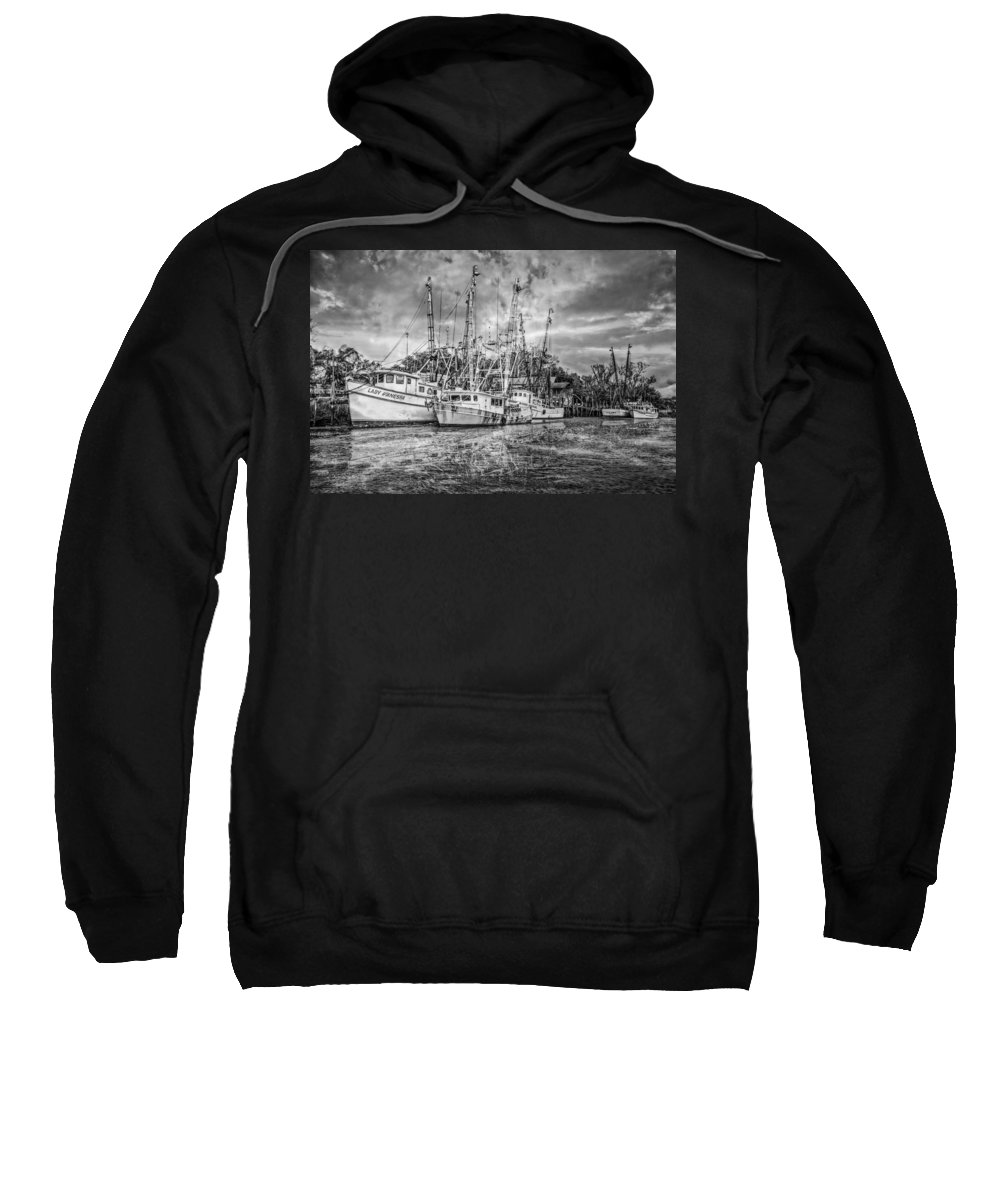 Boats Sweatshirt featuring the photograph Old Fishing Boats by Debra and Dave Vanderlaan