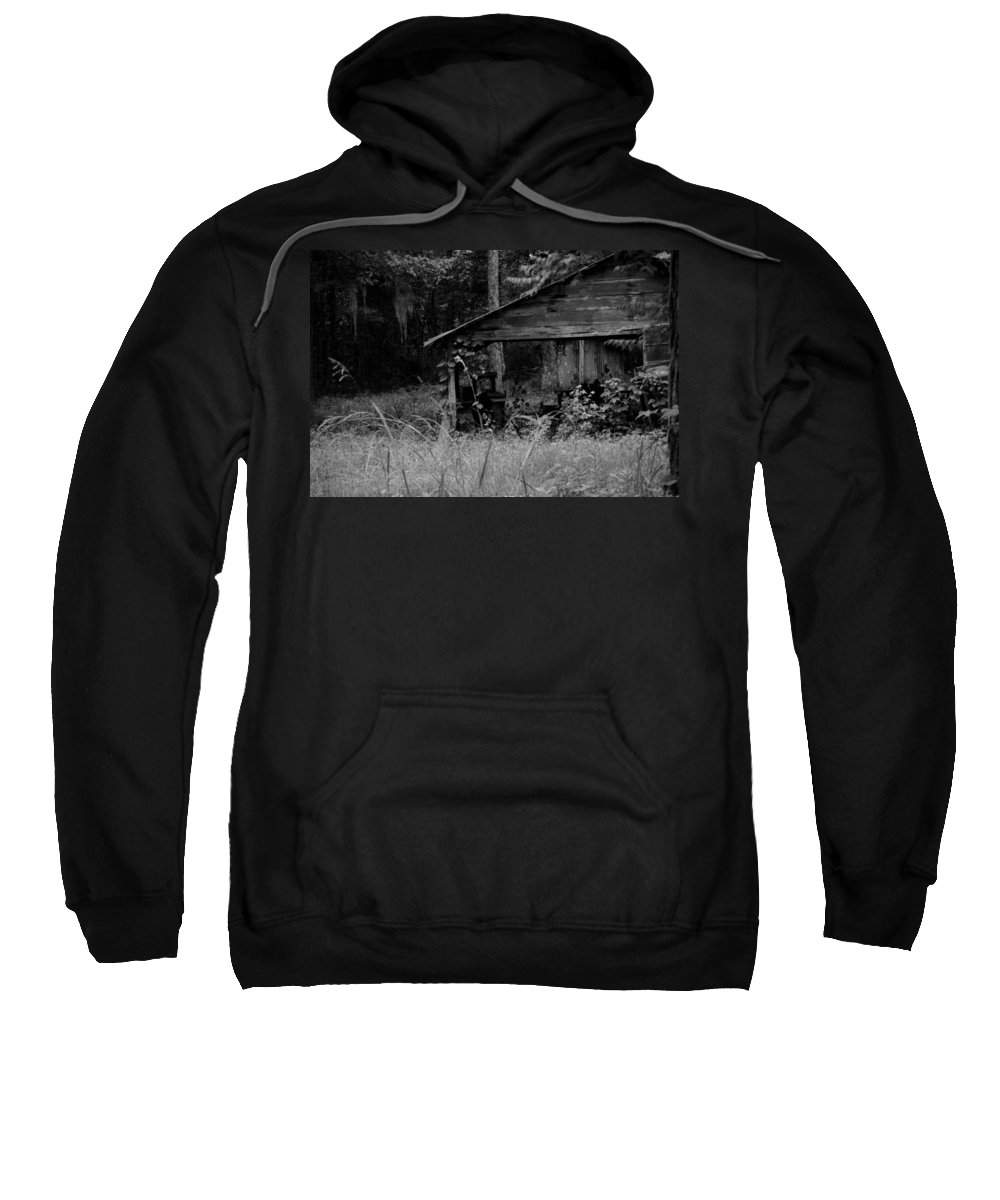 Old Sweatshirt featuring the photograph Old Fishing Shed by Jon Cody