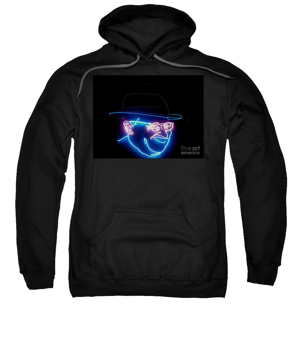 Sweatshirt featuring the photograph Old Man In Neon 2 by Kelly Awad