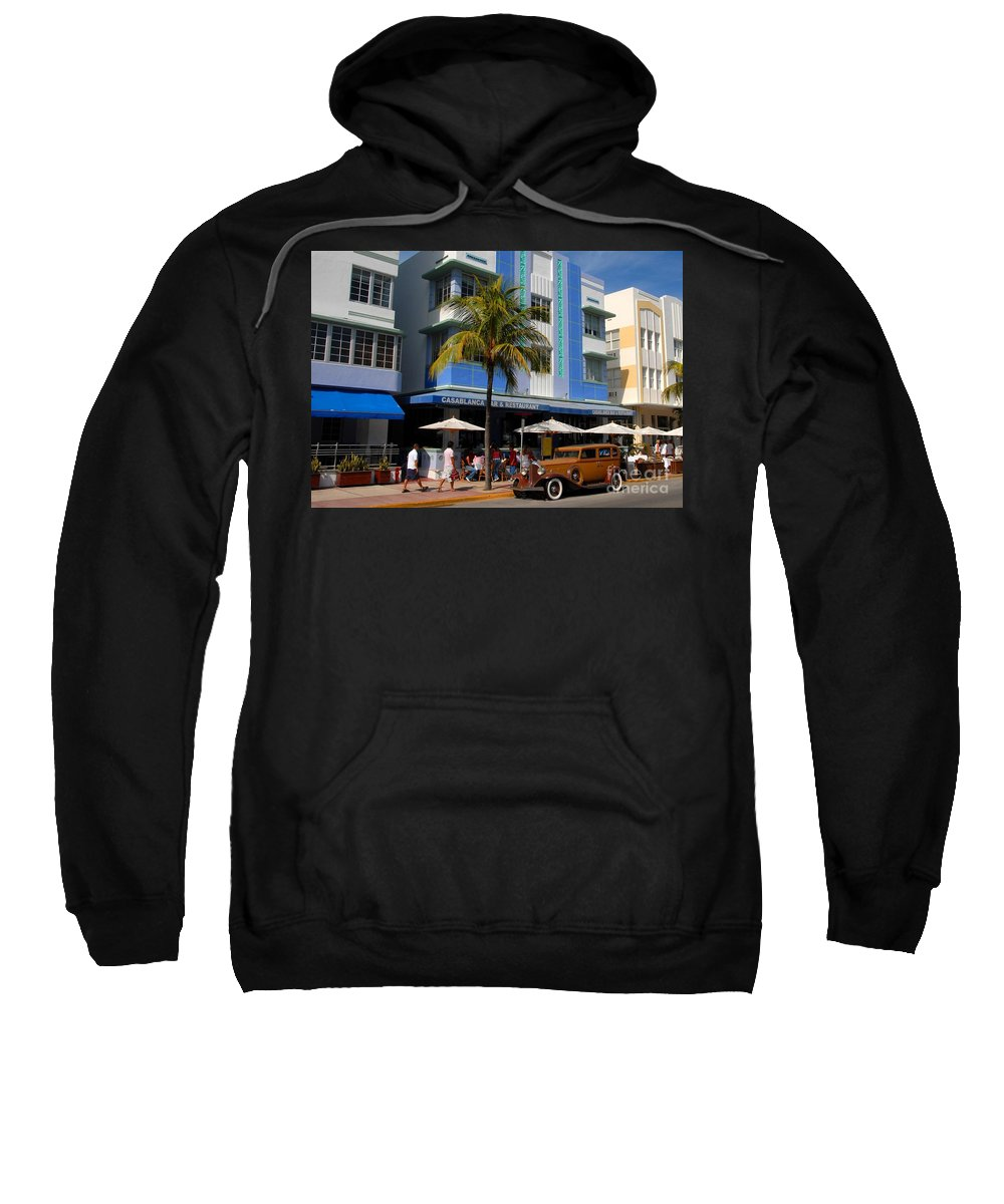 Miami Florida Sweatshirt featuring the photograph Old Miami by David Lee Thompson