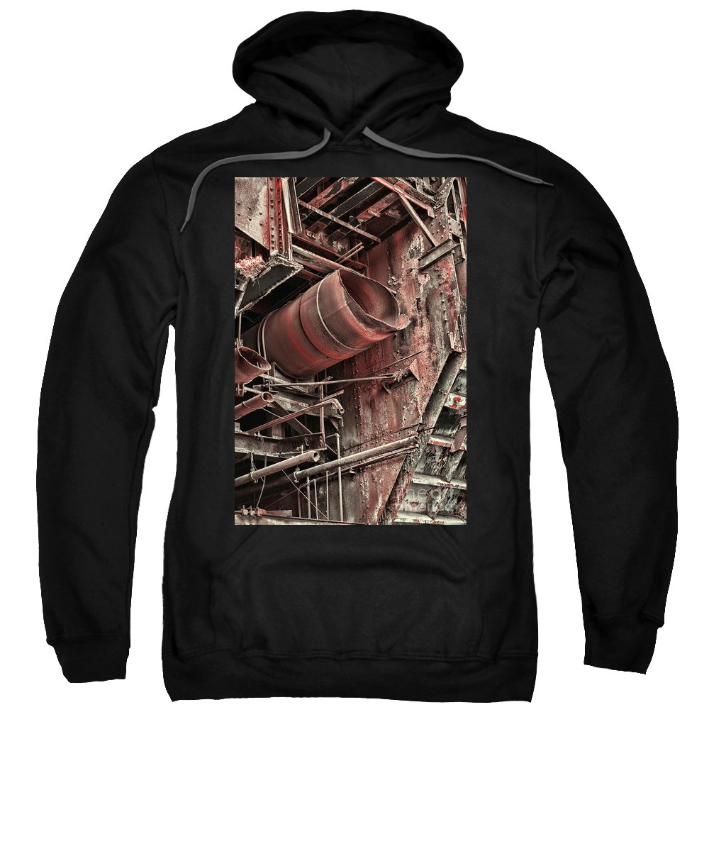 Paul Ward Sweatshirt featuring the photograph Old Rusty Pipes by Paul Ward
