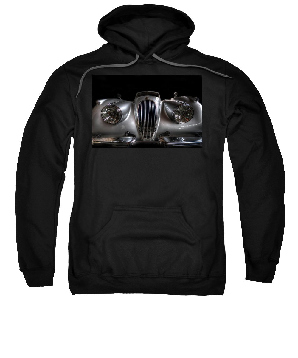 Car Sweatshirt featuring the digital art Old Siliver Cat by Nathan Wright