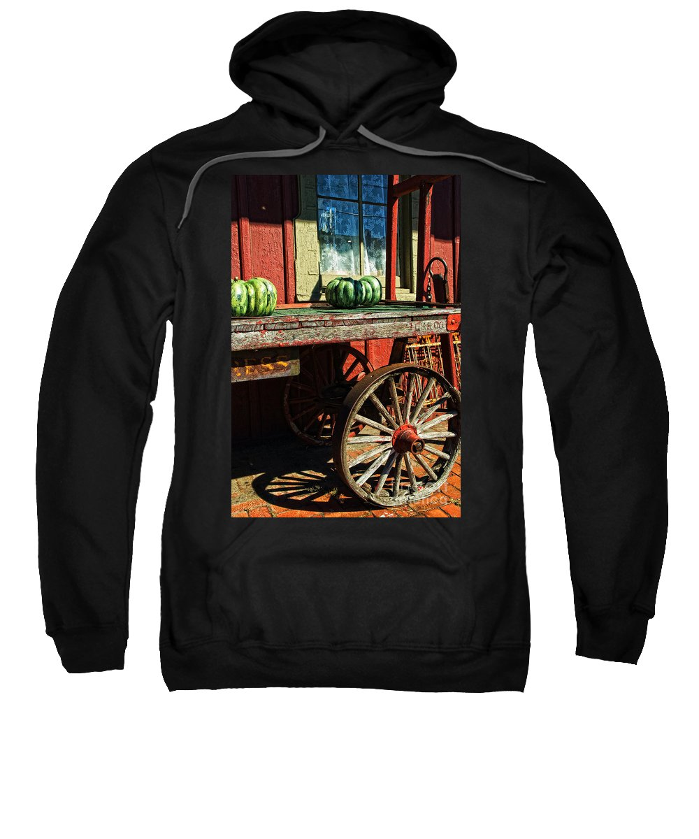 Railroad Sweatshirt featuring the photograph Old Station Cart by Paul W Faust - Impressions of Light