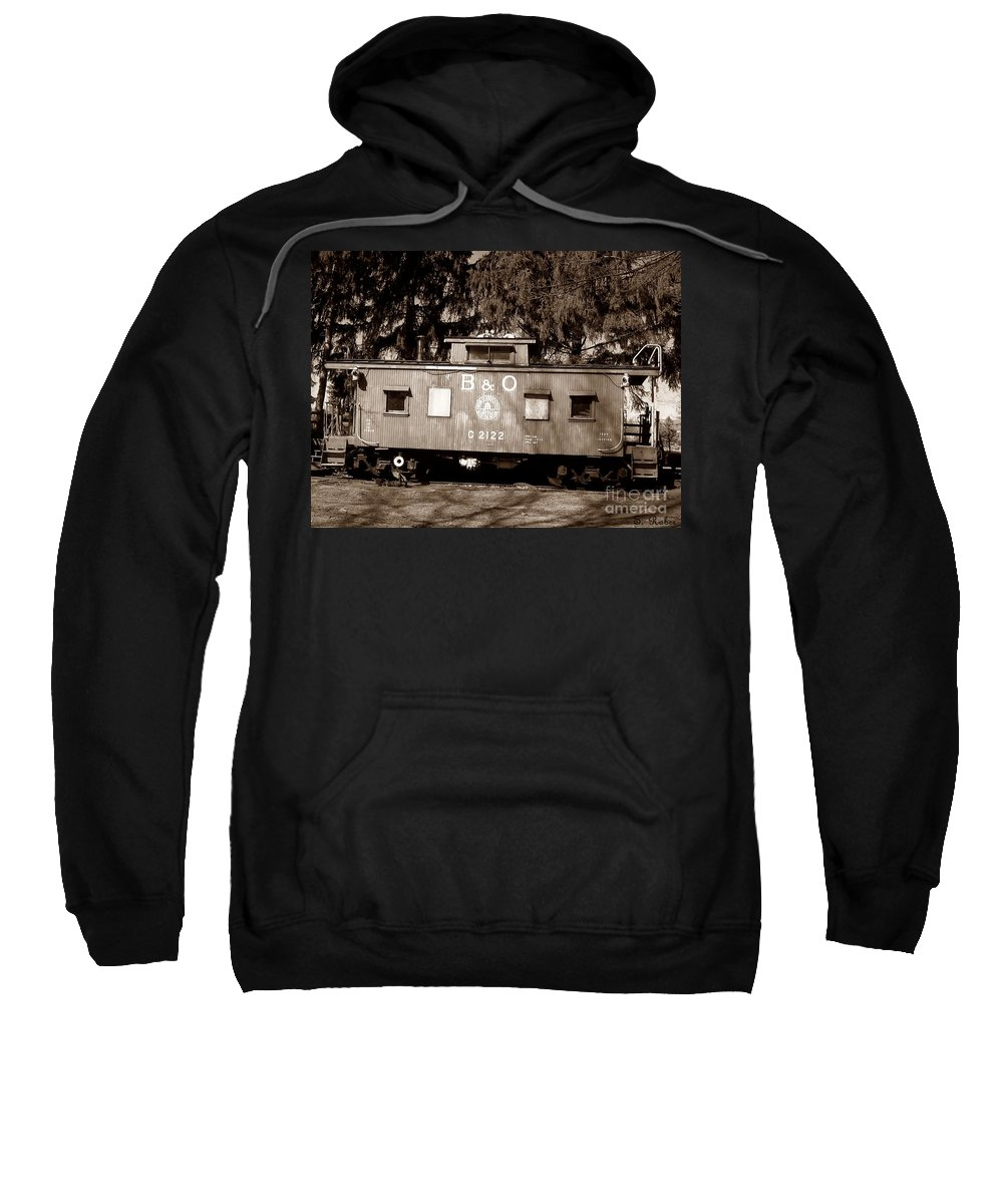 Train Sweatshirt featuring the photograph Old Timer by Sara Raber