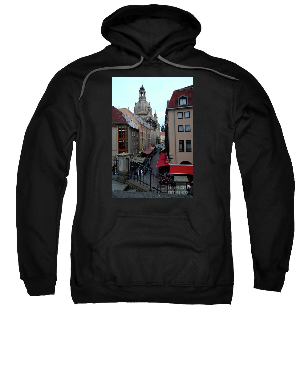 Alley Sweatshirt featuring the photograph Old Town Dresden by Christiane Schulze Art And Photography