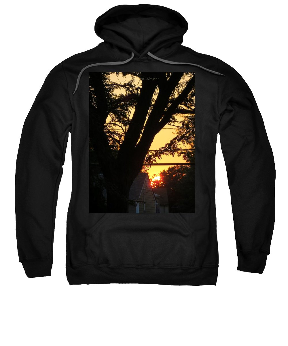 Y Sunset Sweatshirt featuring the photograph Old Tree And Sunset by Sonali Gangane