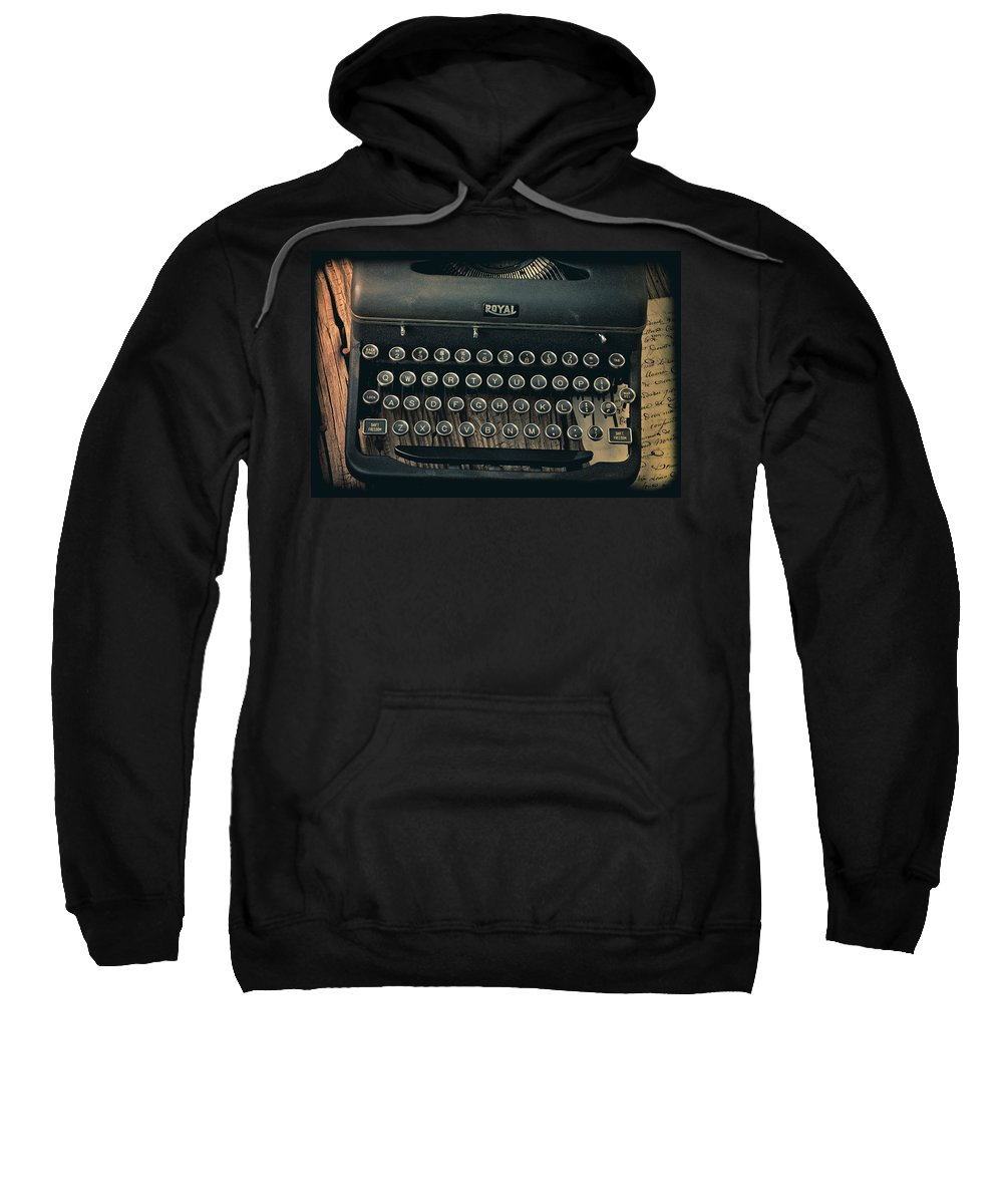 Old Typewriter Sweatshirt featuring the photograph Old Typewriter With Letter by Garry Gay