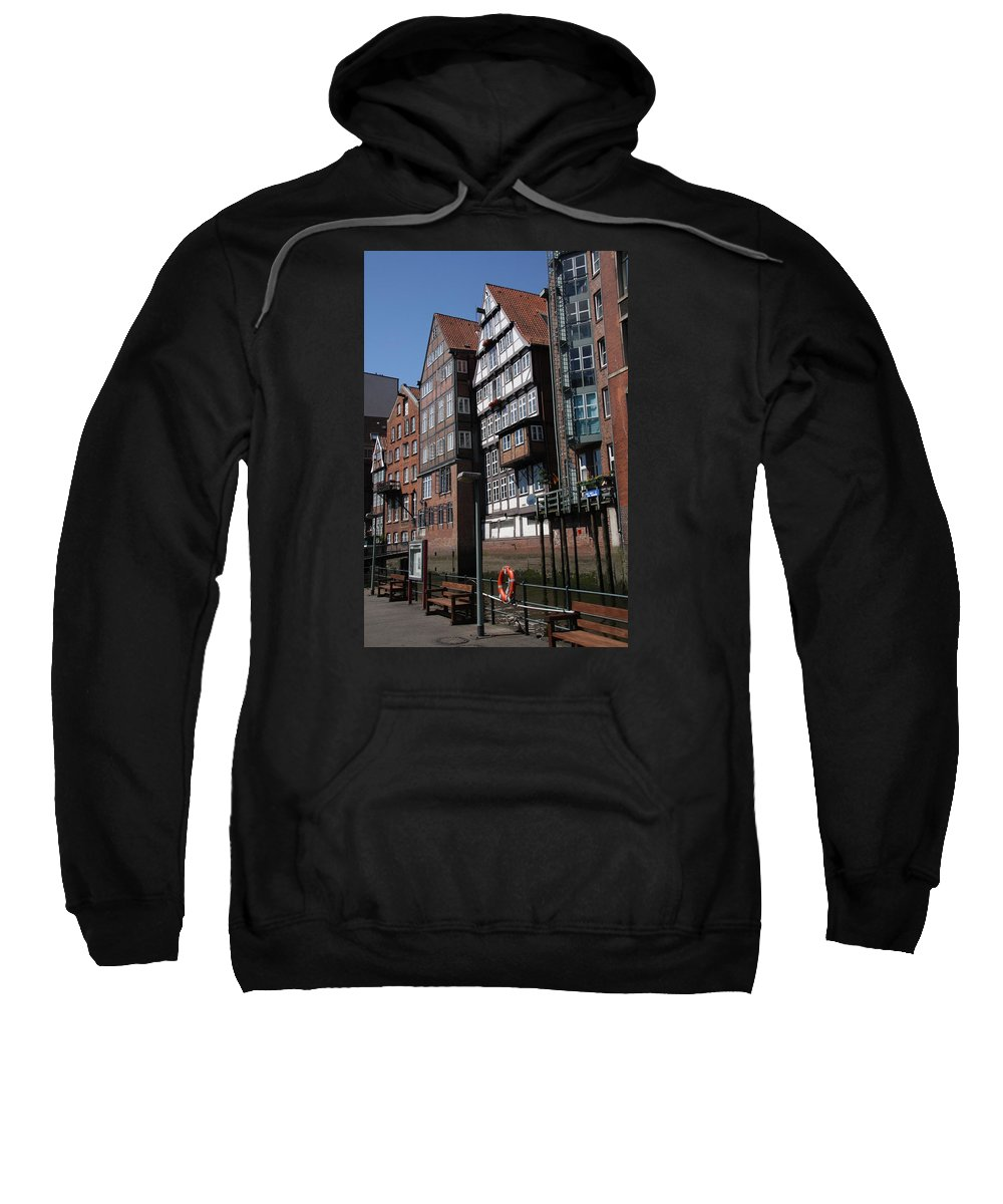 Hamburg Sweatshirt featuring the photograph Old Warehouses Port Of Hamburg by Christiane Schulze Art And Photography