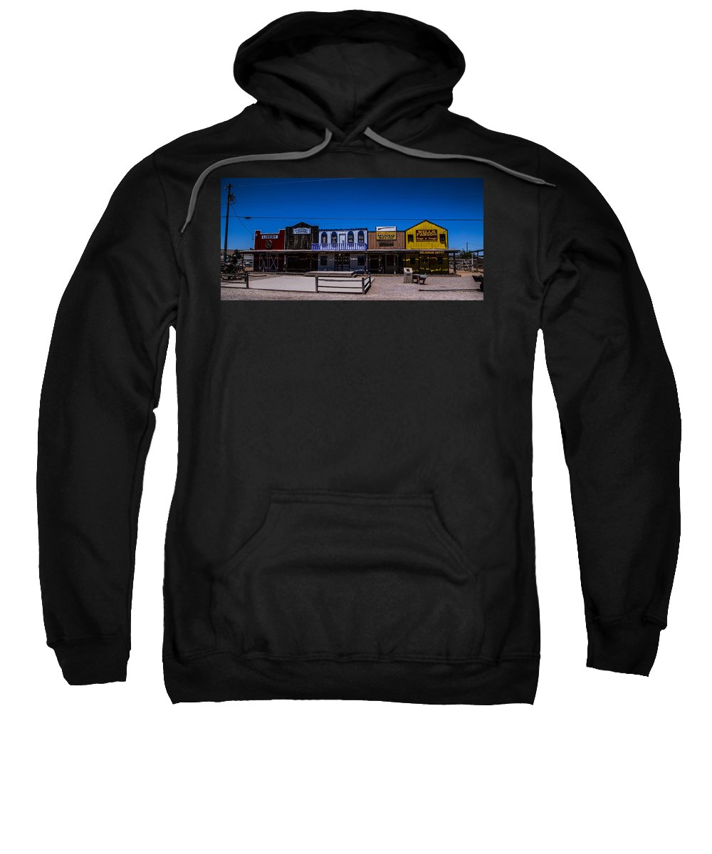 Route 66 Sweatshirt featuring the photograph Olde Strip Mall by Angus Hooper Iii