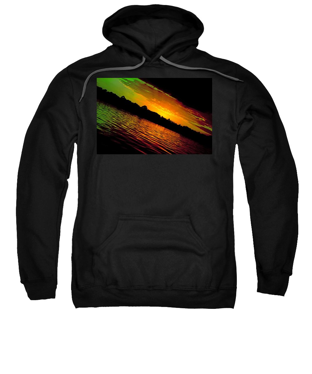 Sunset Sweatshirt featuring the photograph Ominous Sunset by DigiArt Diaries by Vicky B Fuller