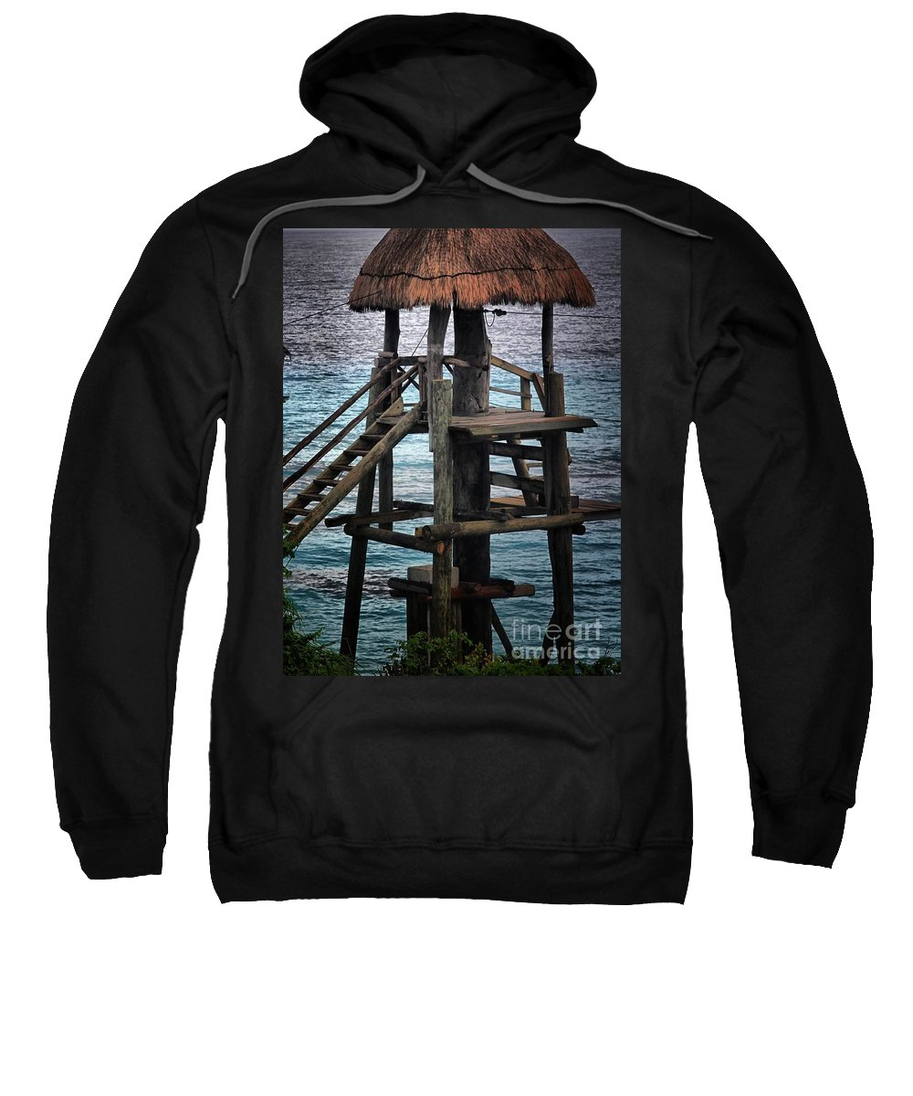 Landscape Sweatshirt featuring the photograph On 2 -ready-hut Hut by Robert McCubbin