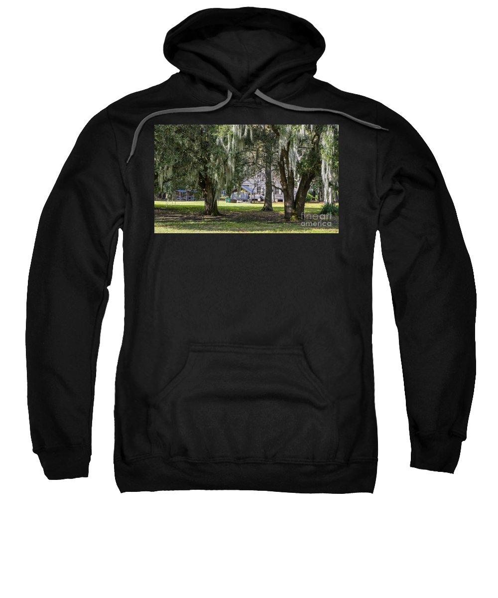 Kathleen K Parker Sweatshirt featuring the photograph On Destrehan Plantation by Kathleen K Parker