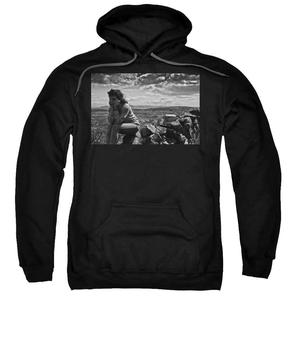 Clouds Sweatshirt featuring the photograph On Her Own by Michele Mule
