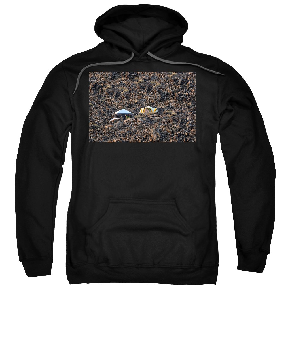Craters Of The Moon Sweatshirt featuring the photograph On The Moon by Image Takers Photography LLC - Laura Morgan