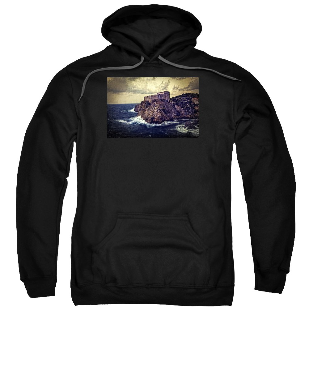 Dubrovnik Sweatshirt featuring the photograph On The Rock - Dubrovnik by Madeline Ellis