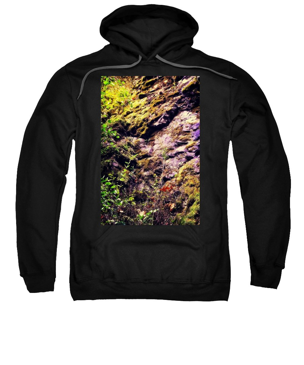 Oregon Sweatshirt featuring the photograph On The Side Of The Rock by Image Takers Photography LLC - Laura Morgan