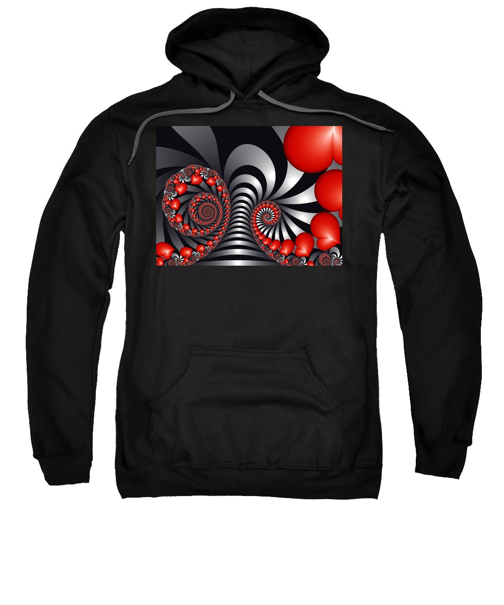 Digital Art Sweatshirt featuring the digital art On The Way To Happiness by Gabiw Art
