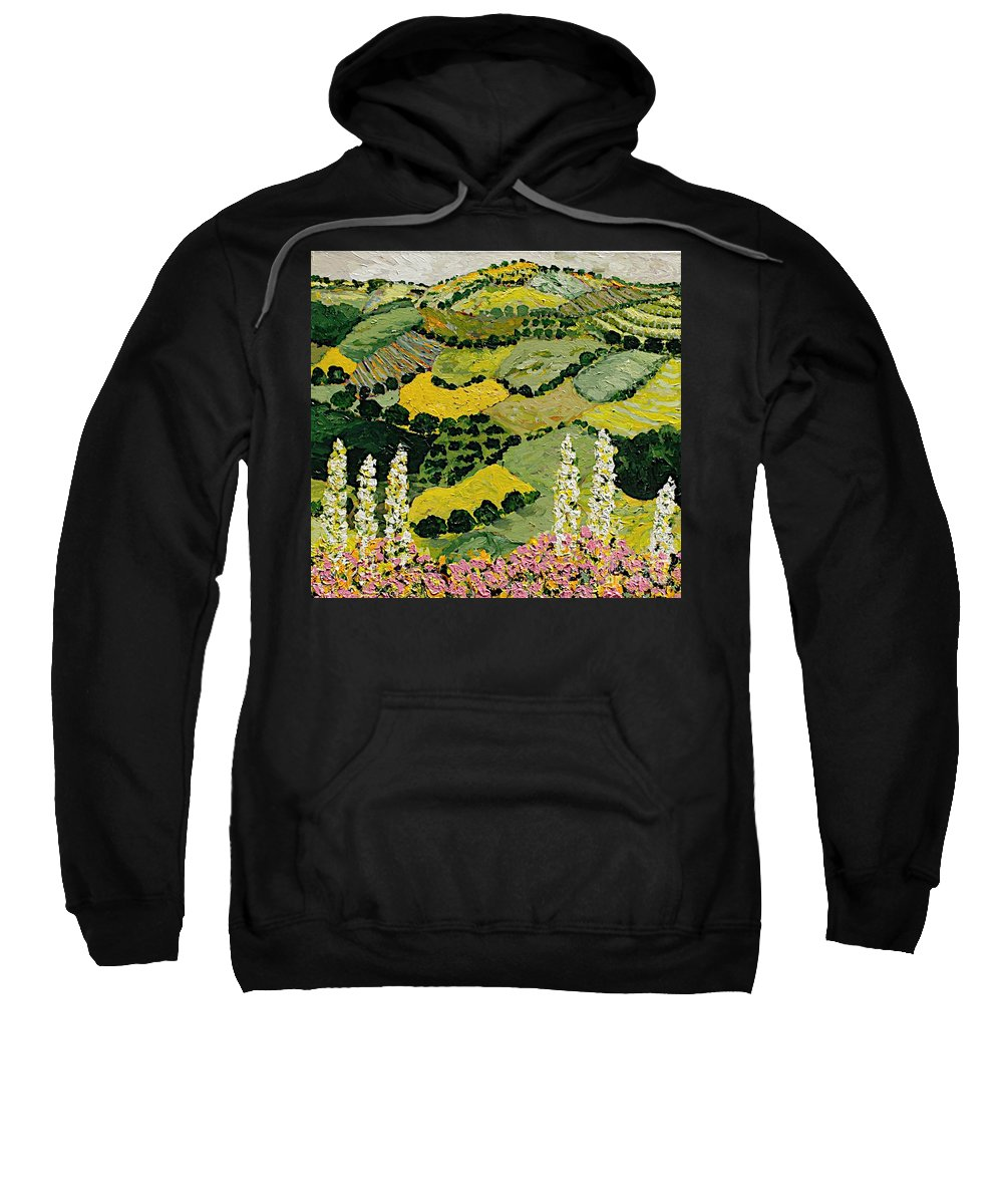 Landscape Sweatshirt featuring the painting One More Smile by Allan P Friedlander