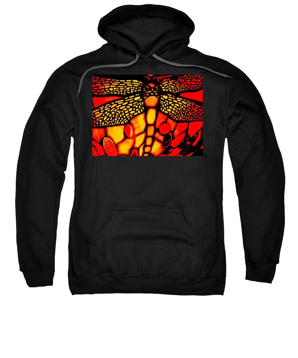 Lamp Sweatshirt featuring the photograph Orange Dragonfly by Chris Berry