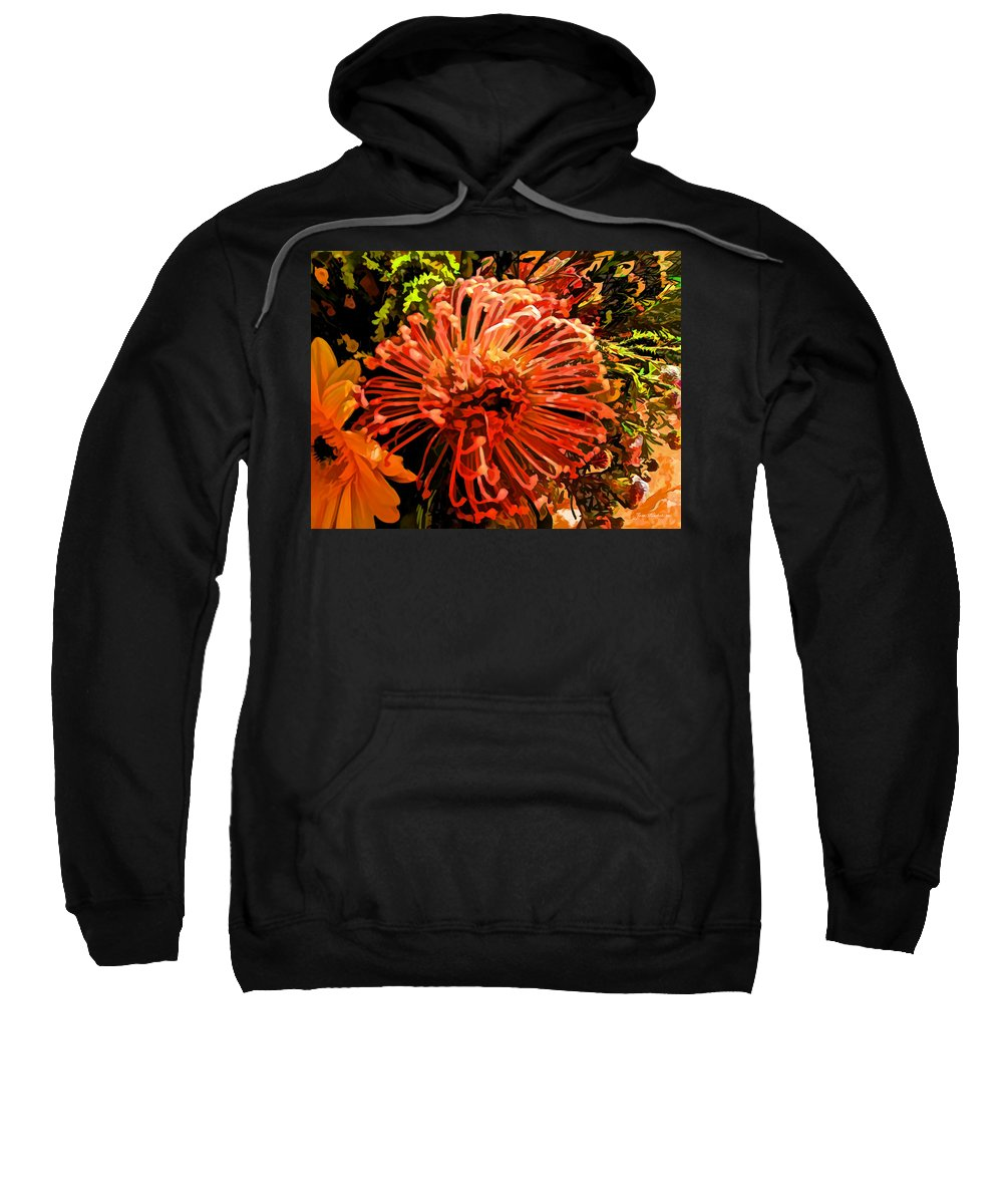 Floral Sweatshirt featuring the photograph Orange Spice Floral by Joan Minchak