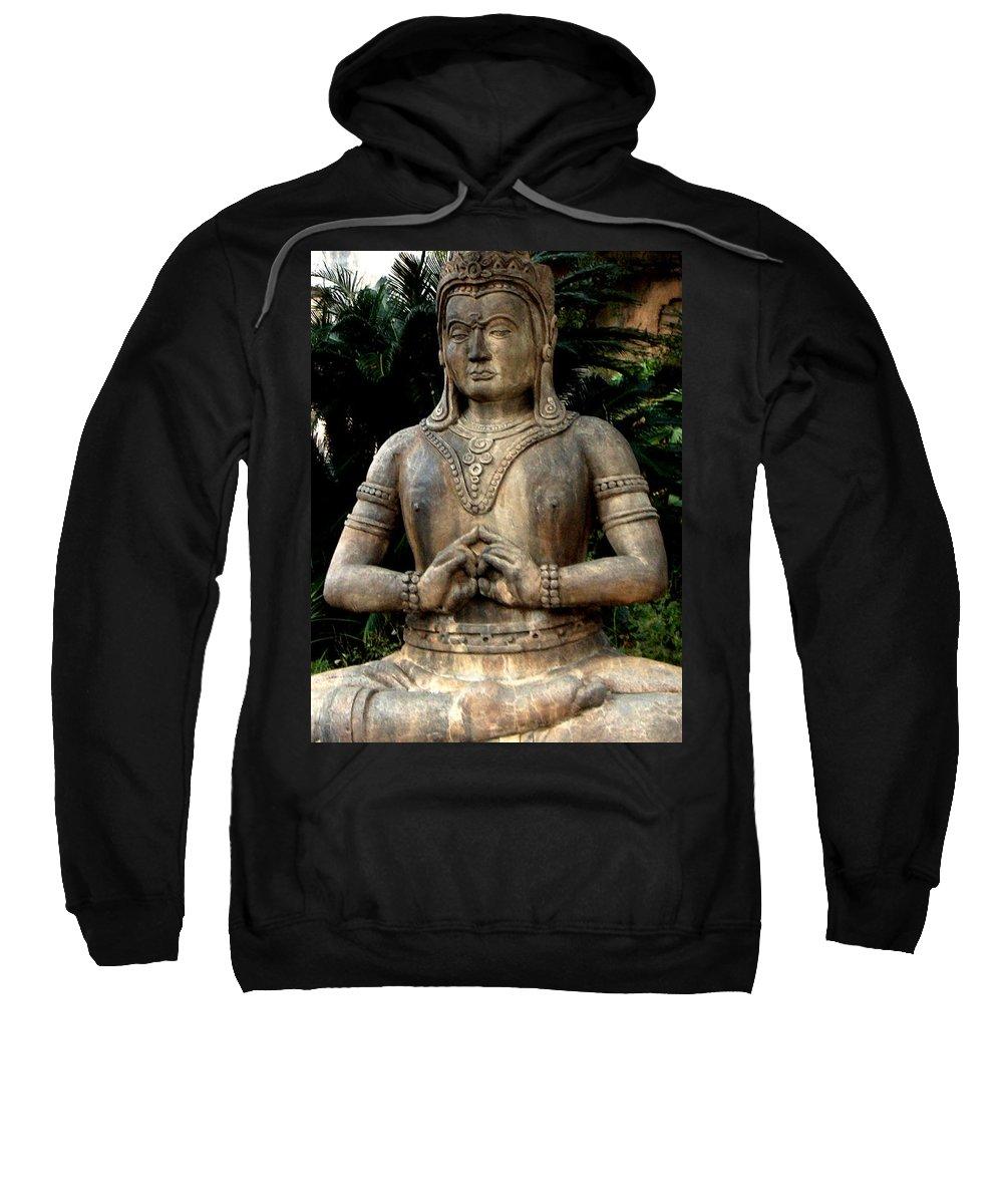 Oriental Sweatshirt featuring the photograph Oriental Statue by Bertie Edwards