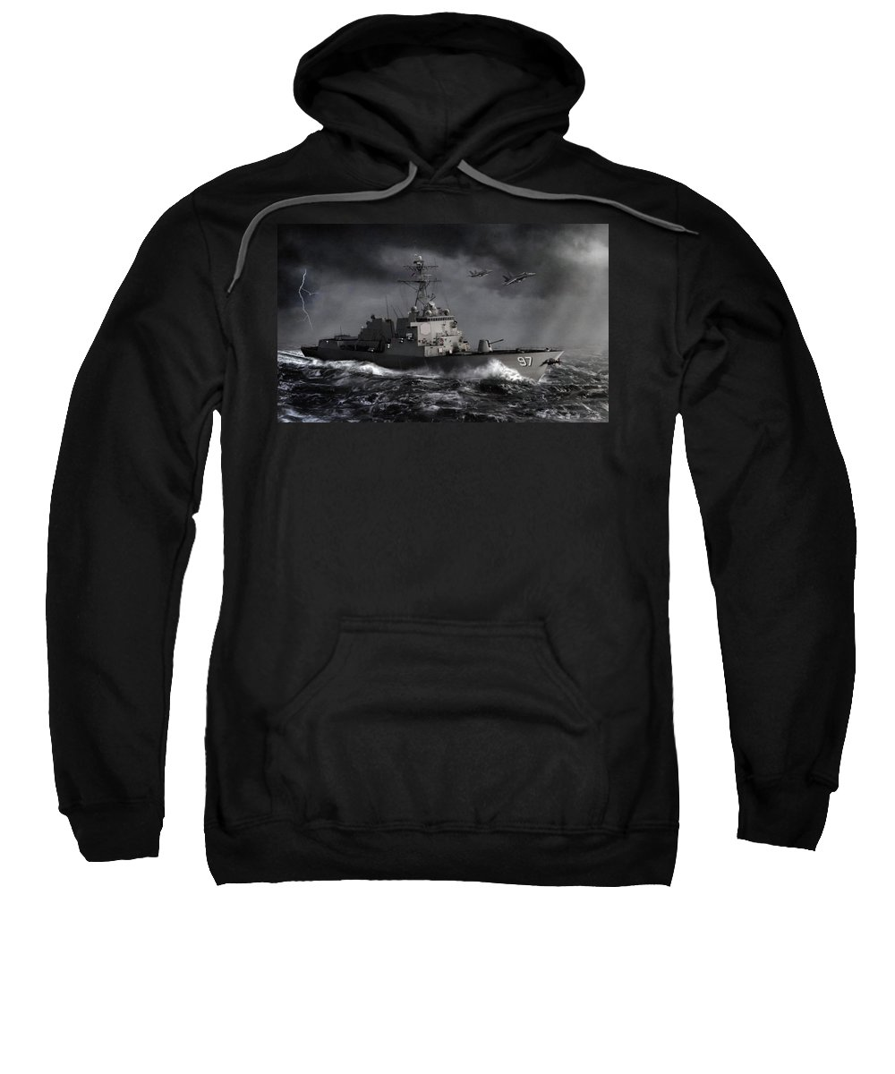 Destroyer Sweatshirt featuring the digital art Out Of The Storm by Dale Jackson