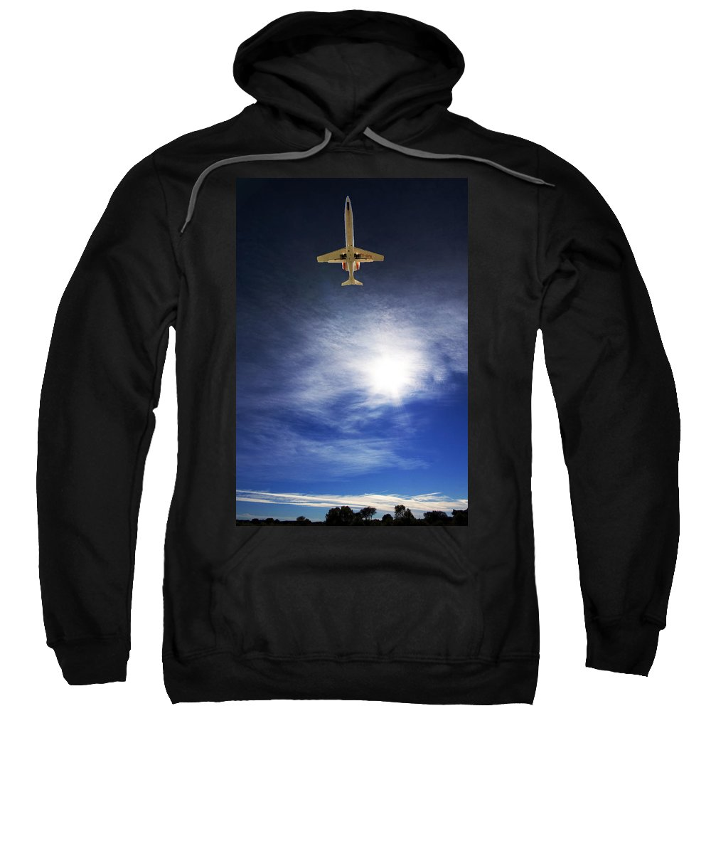Wide Angle Sweatshirt featuring the photograph Over by Paul Job