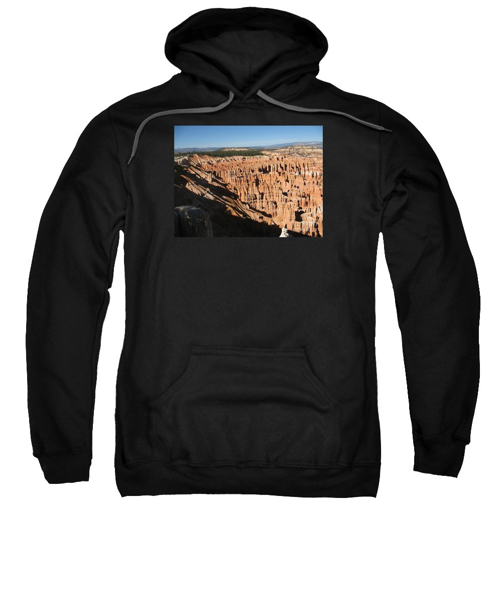 Mountians Sweatshirt featuring the photograph Overview At Bryce Canyon by Christiane Schulze Art And Photography
